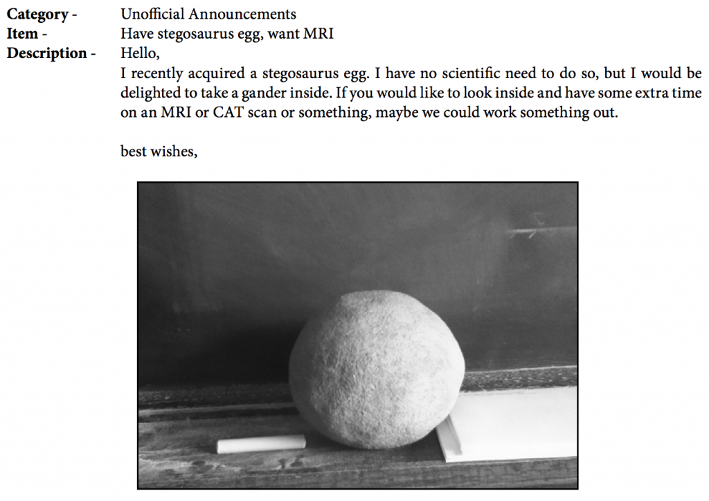 Classifieds - Dinosaur Egg