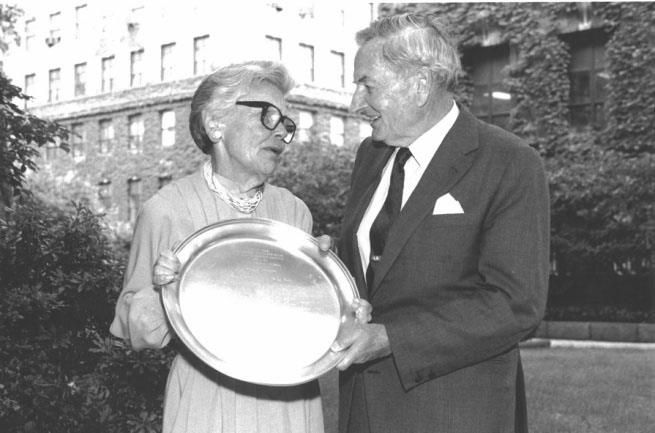 Photo: Lila Magie with David Rockefeller, by Leif Carlsson