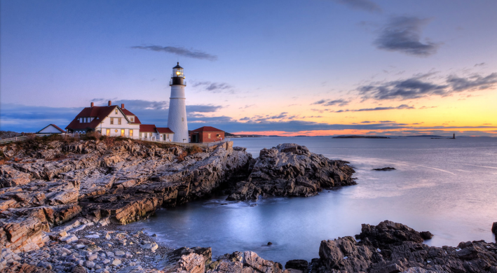 A picture-postcard—Two Lights State Park sits just 25 minutes from bustling Portland, Maine.