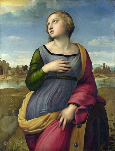 Saint Catherine of Alexandria by Raphael, National Gallery, London