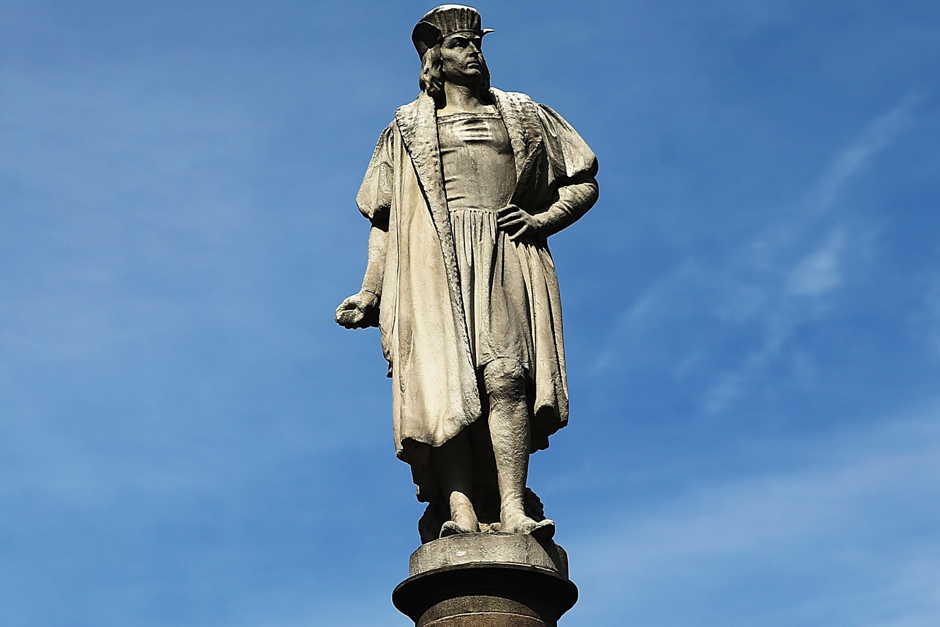 Statue of Christopher Columbus at Columbus Circle in New York.